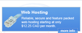 Reliable, secure and feature packed web hosting starting at only $12.25